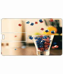 Printland Bottom Ups Glass 8 Gb 8 Gb Pen Drives Multicolor