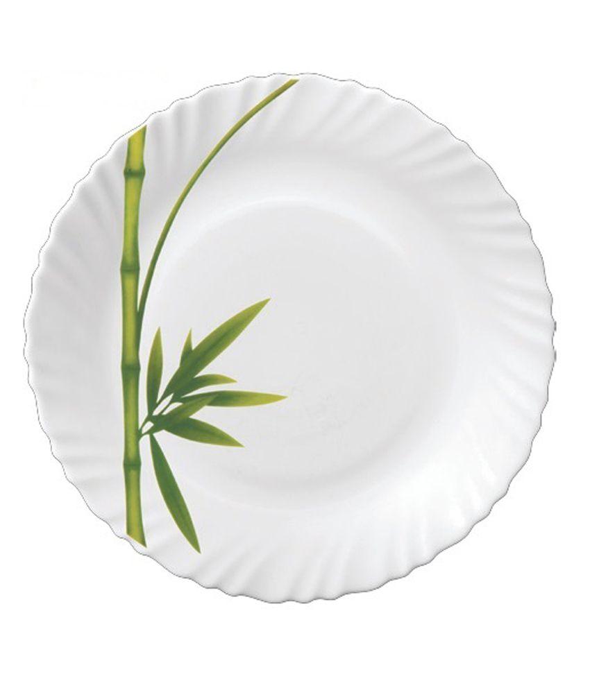 La Opala Diva Fluted Green Dinner Set 27 Pcs