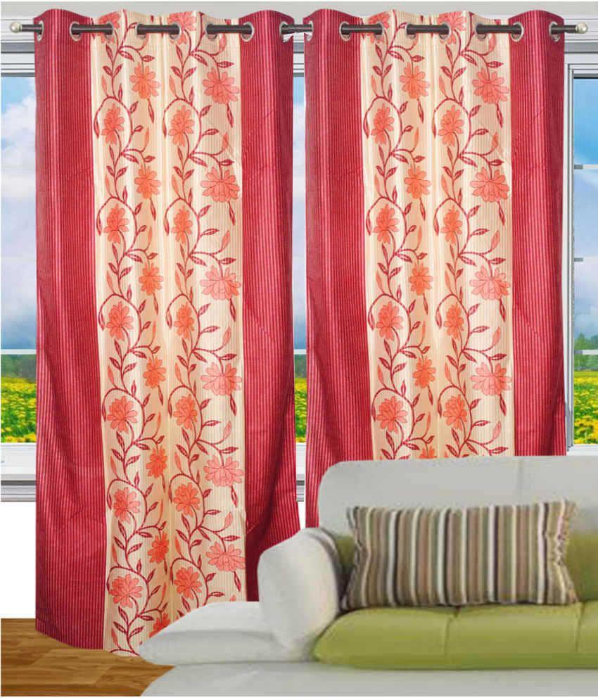 Fantasy Home Decor: Fantasy Home Decor Eyelet Door Curtains Floral Pink