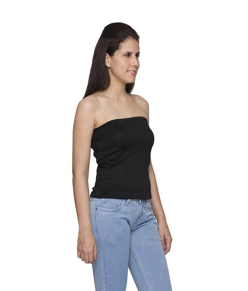 buy globus women's black tube top online at best prices in india