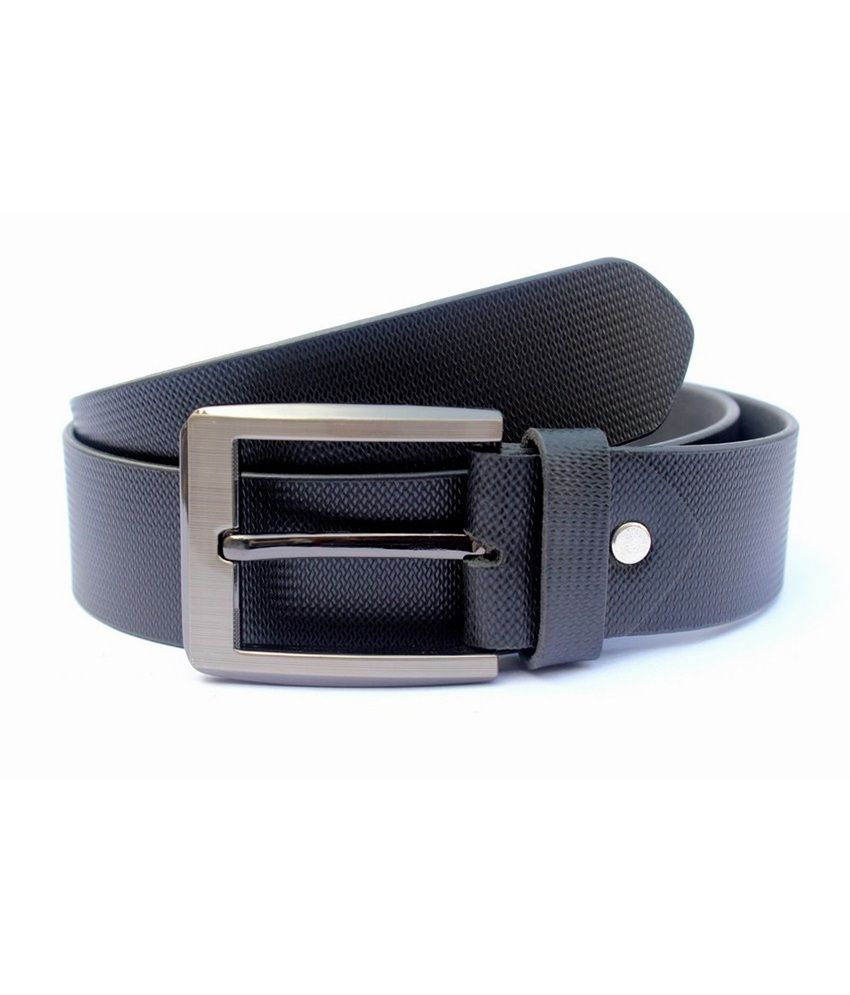 Tops Black Leather Casual Belts