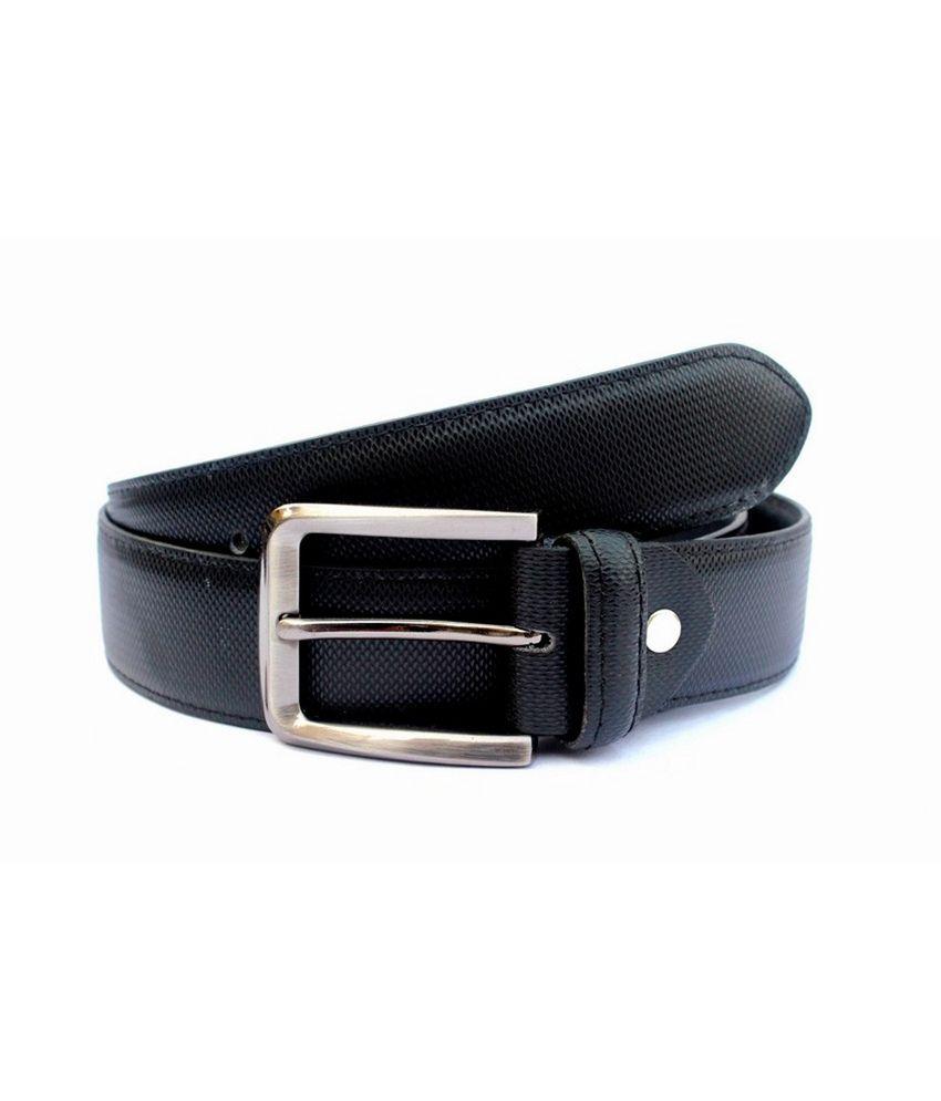 Tops Black Leather Formal Belts