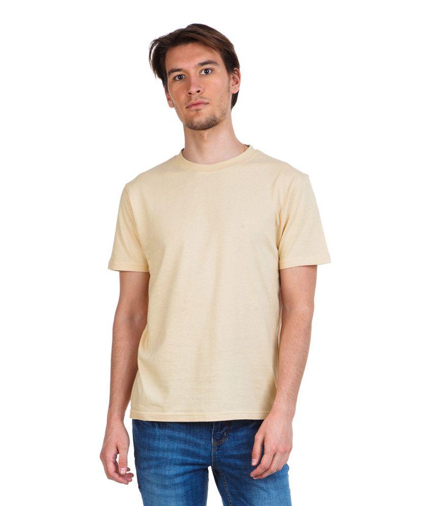 Zovi Beige Cotton T-shirt