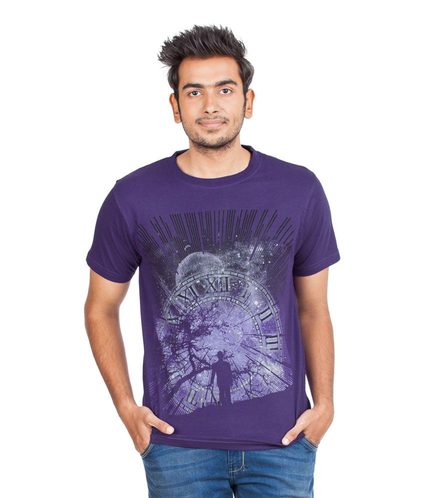Zovi Purple Cotton T-shirt
