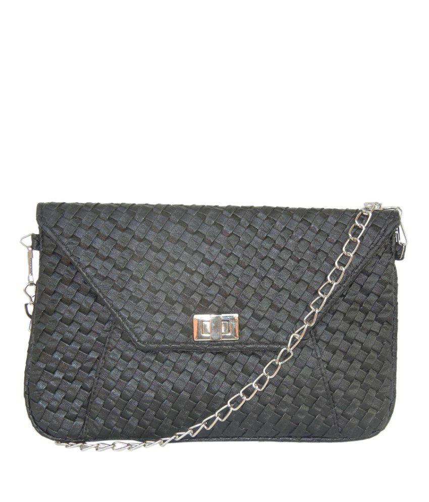 Akriti Gm10402 Black Sling Bags