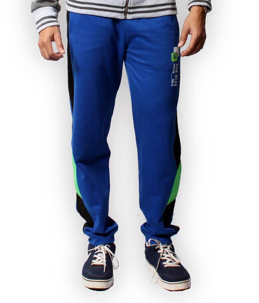 Fitz Blue Cotton Blend Trackpant