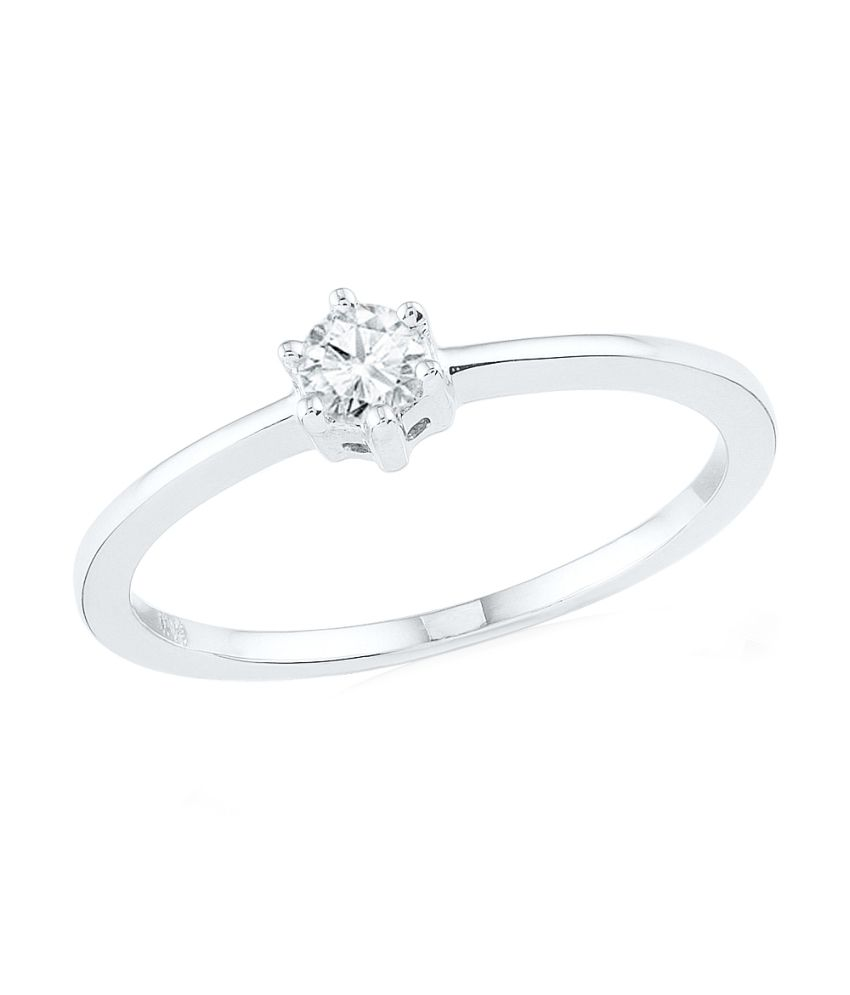 Ishis White 18kt Gold Solitaire Ring