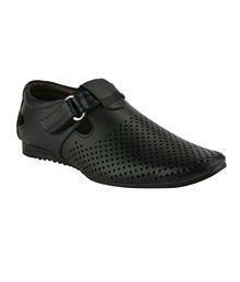 Wave Walk Black Sandals
