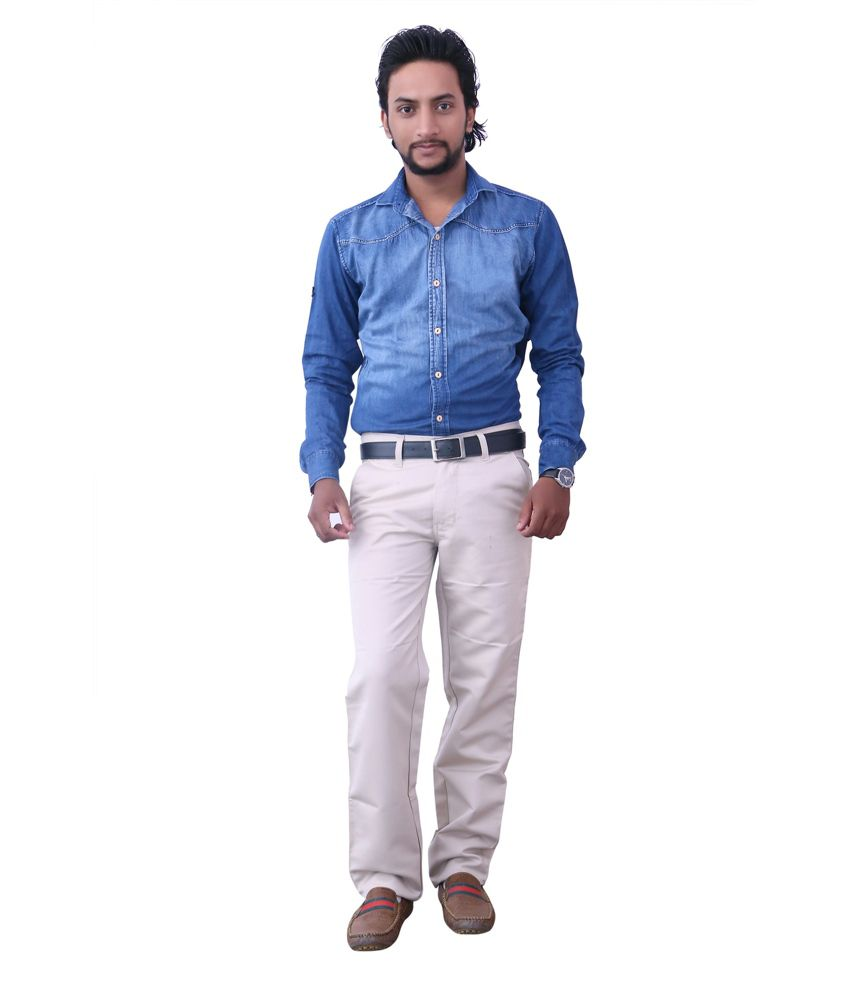 Comfycotts White Men's Trousers
