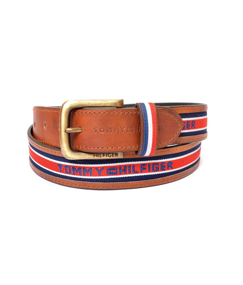 Tommy Hilfiger Genuine Quality Leather Belt - Brown