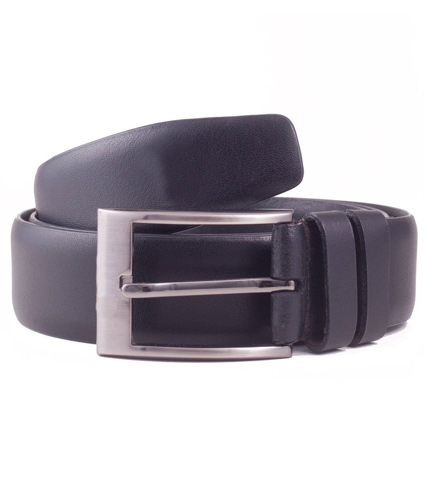 Ekvi Black Genuine Italian Leather Belt For Men