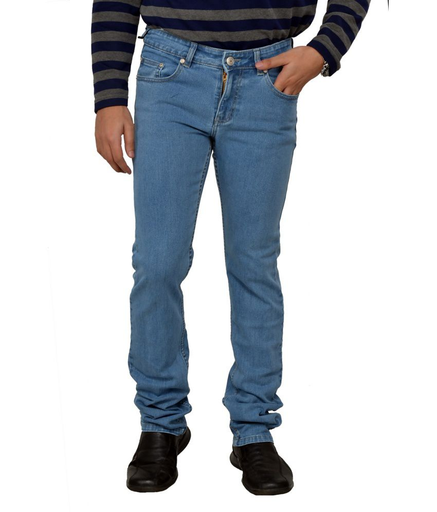 Passport Ice Blue Regular Fit Jeans