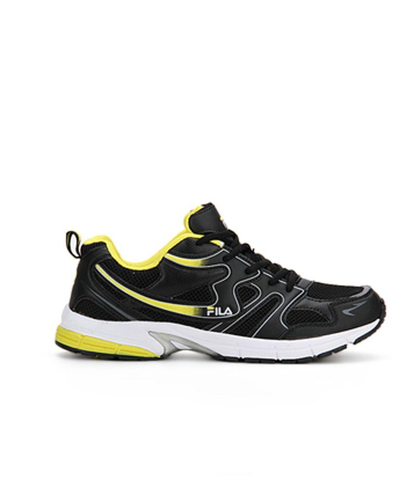 Fila black running shoes