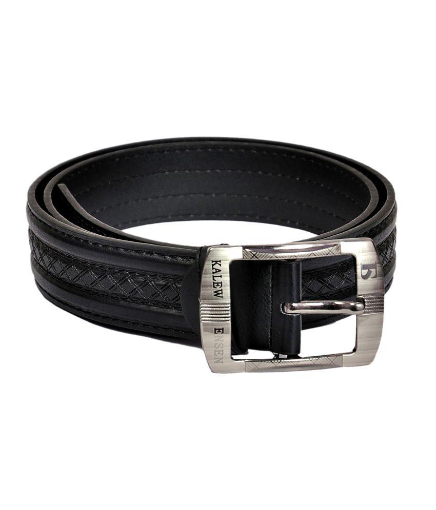 Domestiq Kalewensen Pro Black Casual Belt For Men