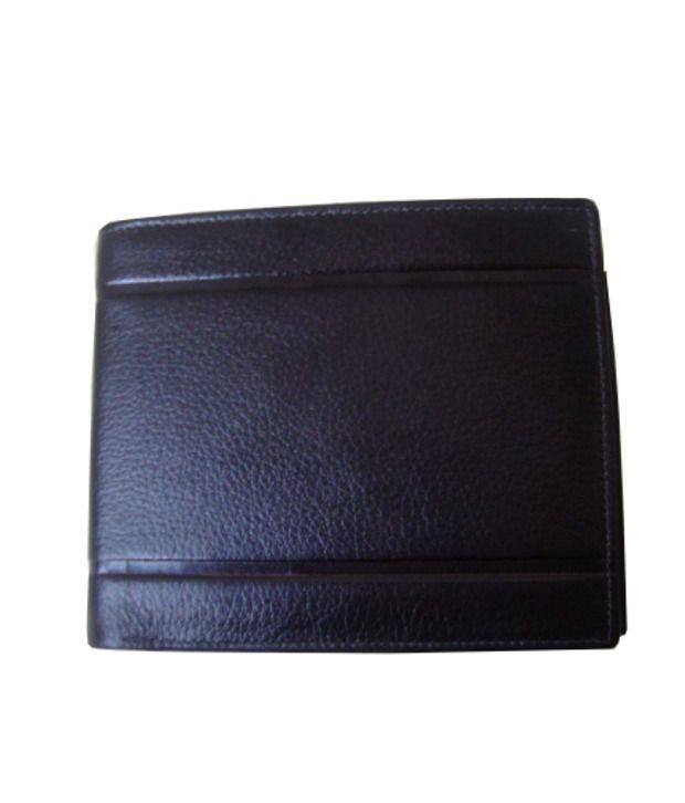 Lee Italian Black Leather Gents Wallet