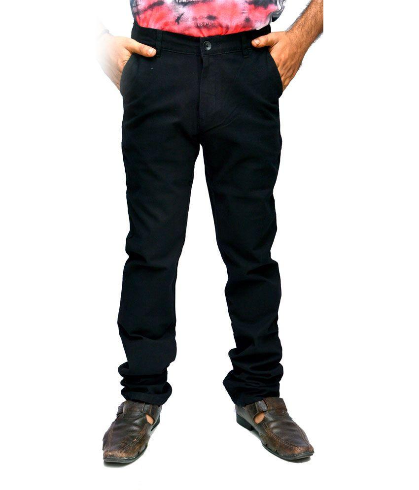 Macrame black cotton slim fit mens jeans