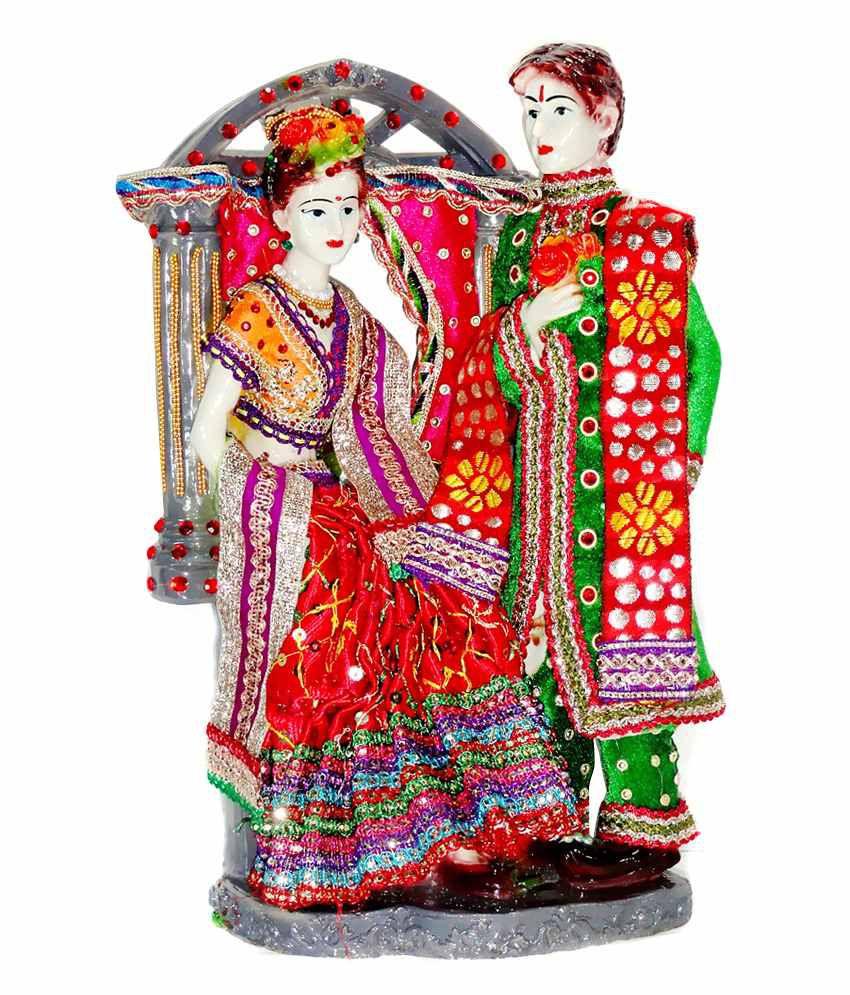 Paras Magic Red Green Wedding Couple Showpiece Buy Paras Magic