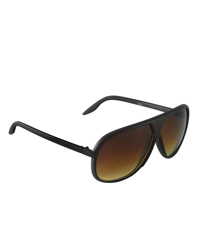 Abstra Attractive Brown Frame Trendy Oval Sunglasses