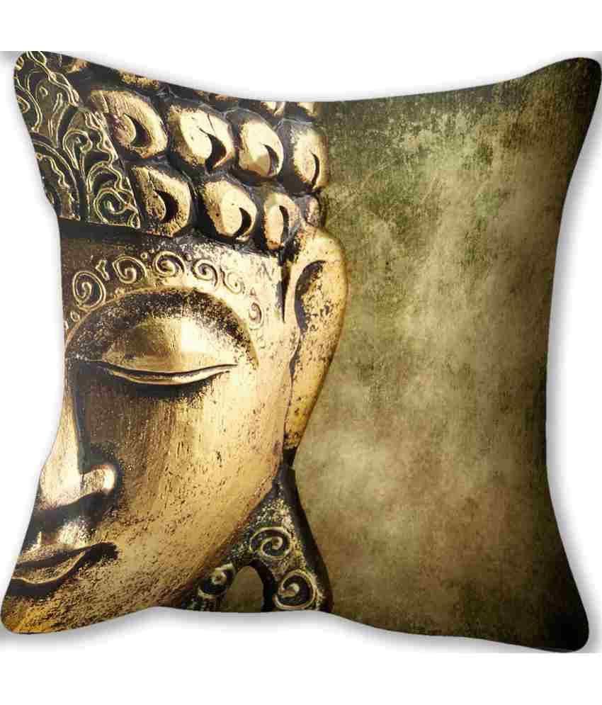 Conure Home Furnishing Buddha Copper Reversible Cushion Cover