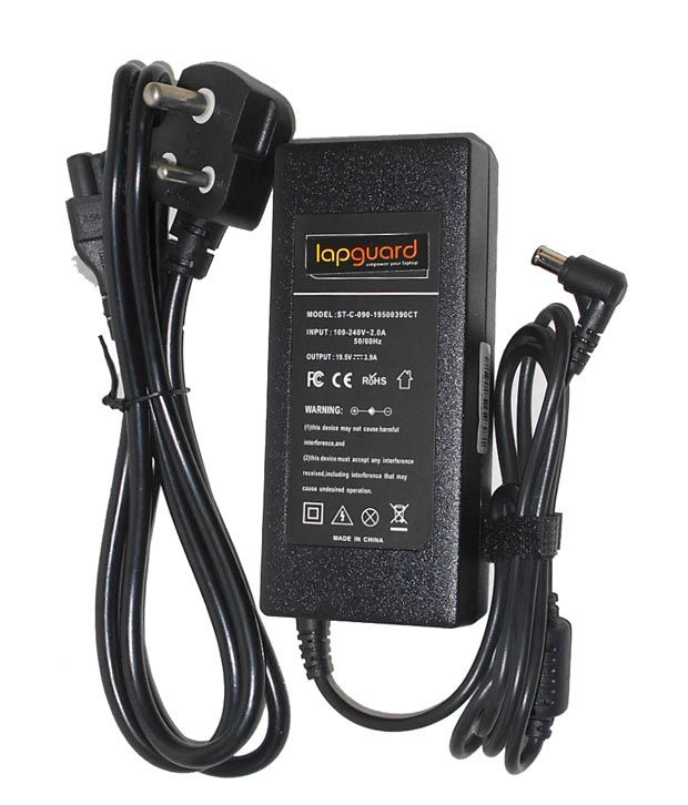 Lapguard Laptop Adapter For Sony Pcg-r600hepd Pcg-r600hfk, 19.5v 3.95a 75w Connector Pin : 6.5 X 4.4 Mm With One Year Warranty