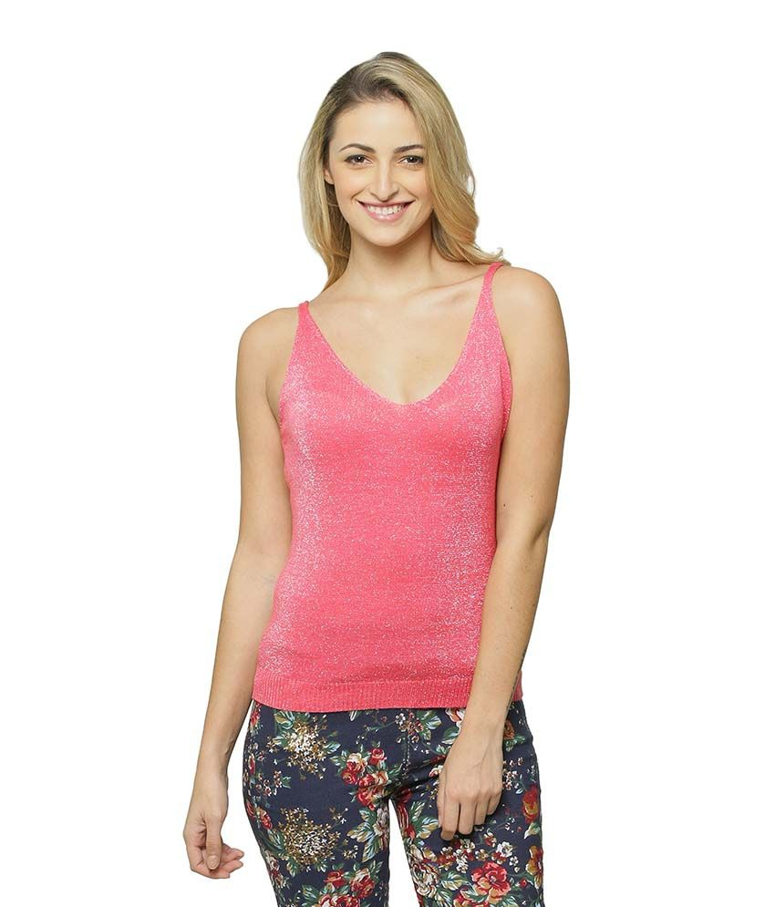 2e7804afb91e8e Miss Chase Pink Tops For Women Sleeveless V Neck Party Wear - Buy Miss  Chase Pink Tops For Women Sleeveless V Neck Party Wear Online at Best  Prices in India ...