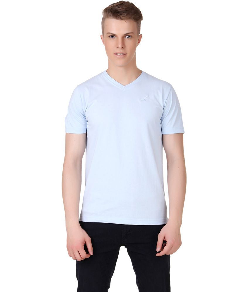 American Crew Blue Men's V-neck T-shirt