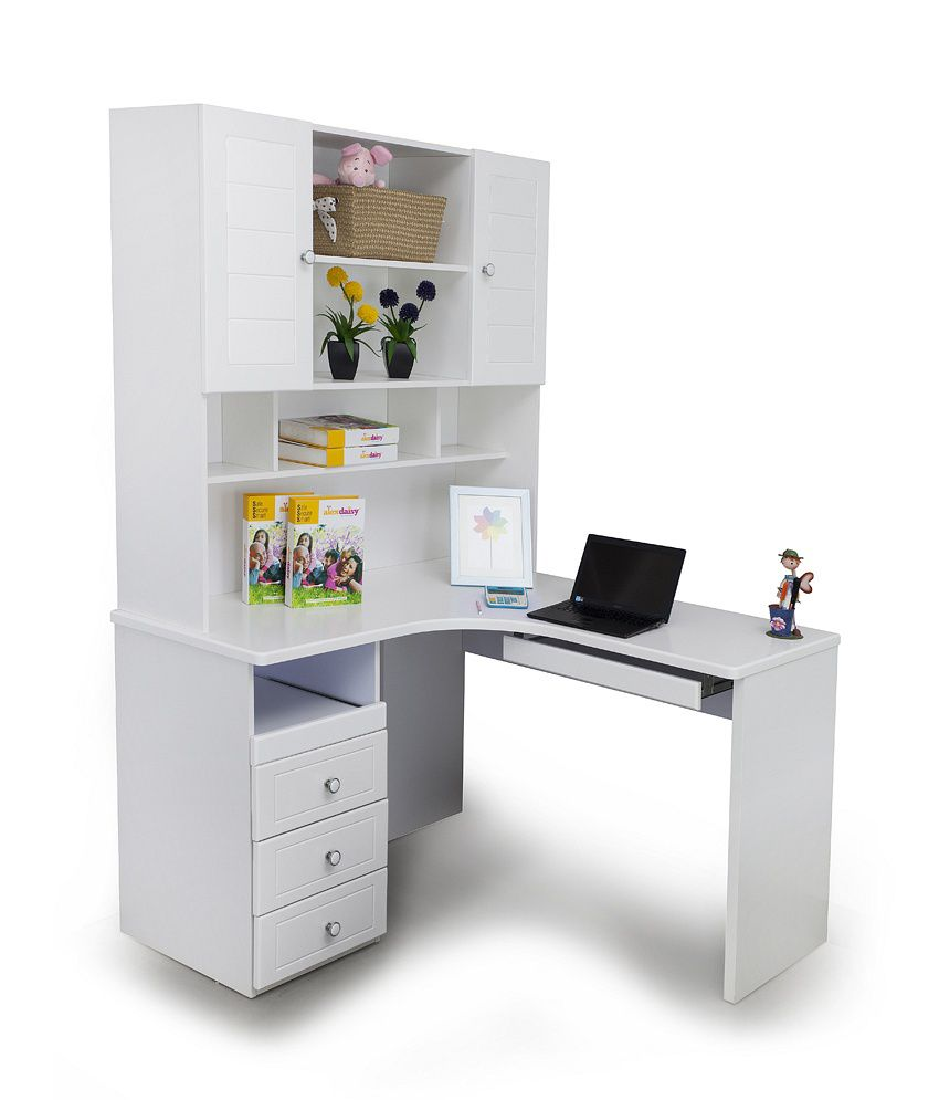 alex daisy corner study table french white buy alex daisy rh snapdeal com