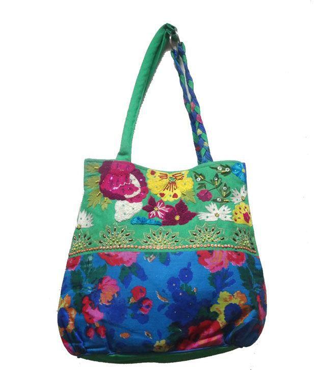 Exmart Multicolor Bag Handmade Embroidered Shoulder Bag