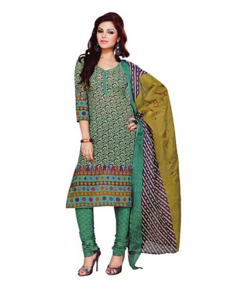 Gitanjali Gitanjali Multicolour Cotton Printed Salwar Suit Dupatta Material (Multicolor)