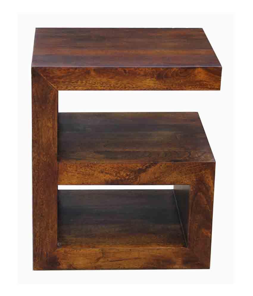 Buy 1 Junglewood Gama Light Walnut Multipurpose Side Table - Get 1 Free