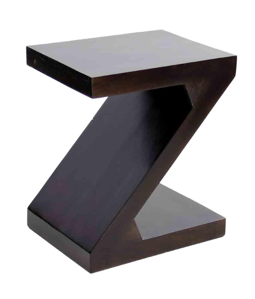 Buy 1 Junglewood Zoro Dark Walnut Multipurpose Side Table - Get 1 Free