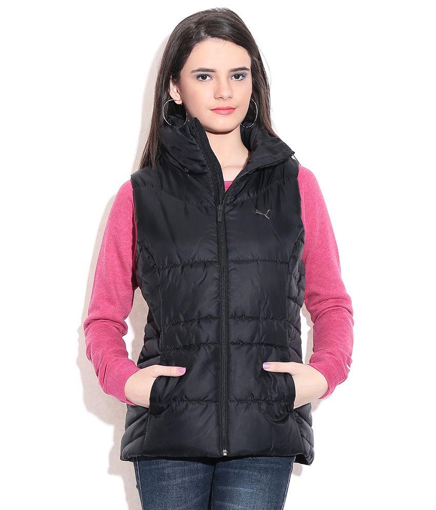 Puma Black Sleeveless Jacket