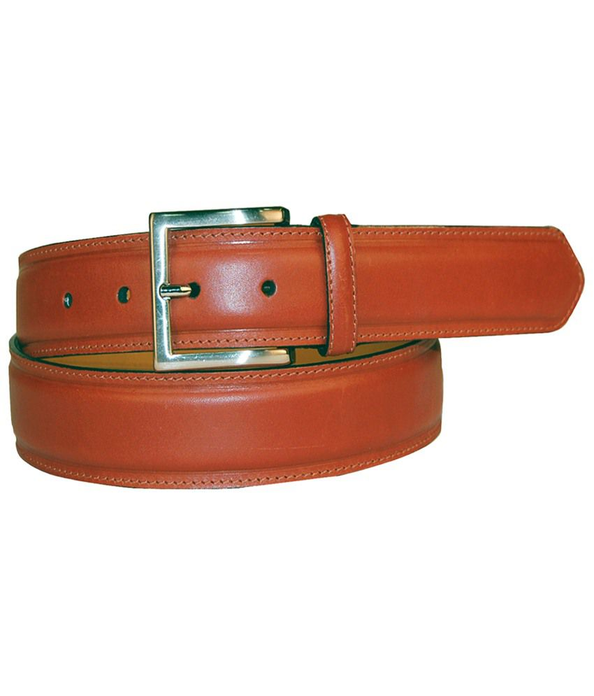 Leather Plus Cherry Formal Belt For Men