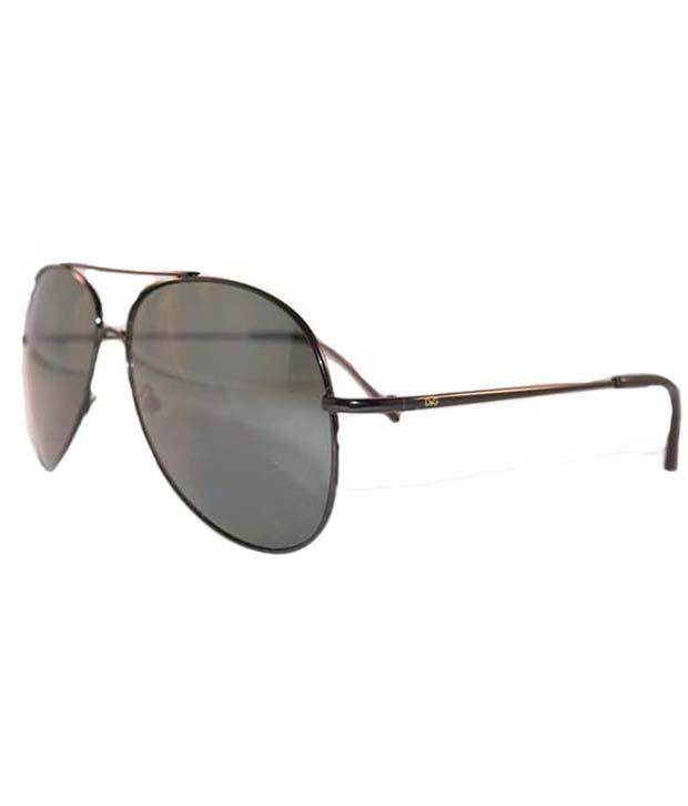 Kalon Unisex Black Aviator Sunglasses