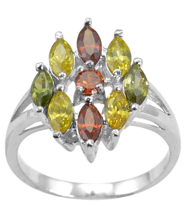 Arsh Crown Sky Dominion 3.69 Ctw Cubic Zirconia 925 Sterling Silver Ring