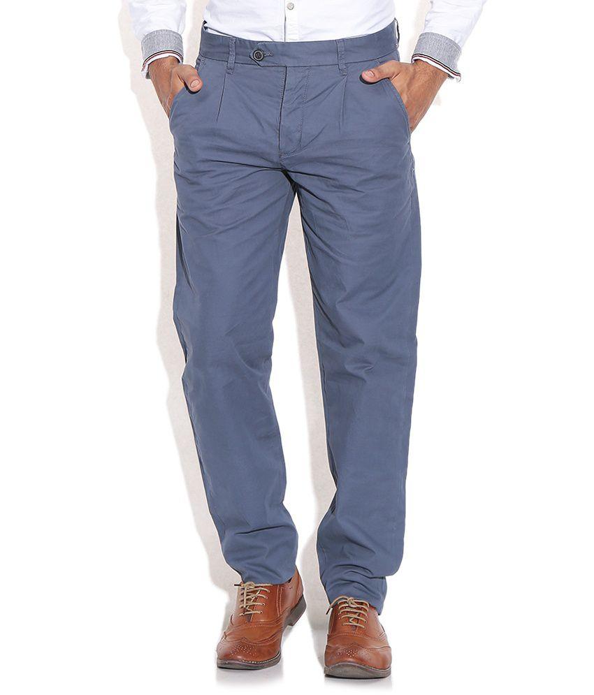 Jack & Jones Blue Regular Trousers & Chinos