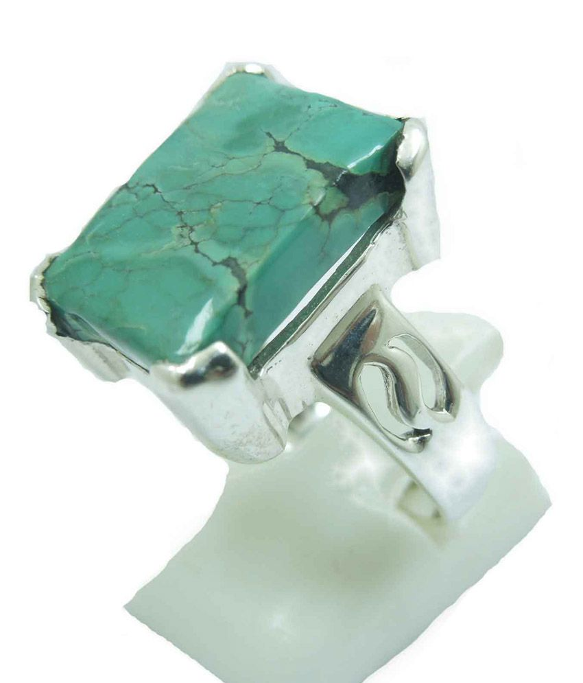 Silver Colors Silver Traditional Turquoise Ring