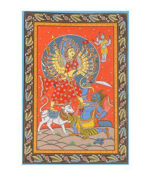 Exotic India Durga Maa Folk Art Painting Buy Exotic India