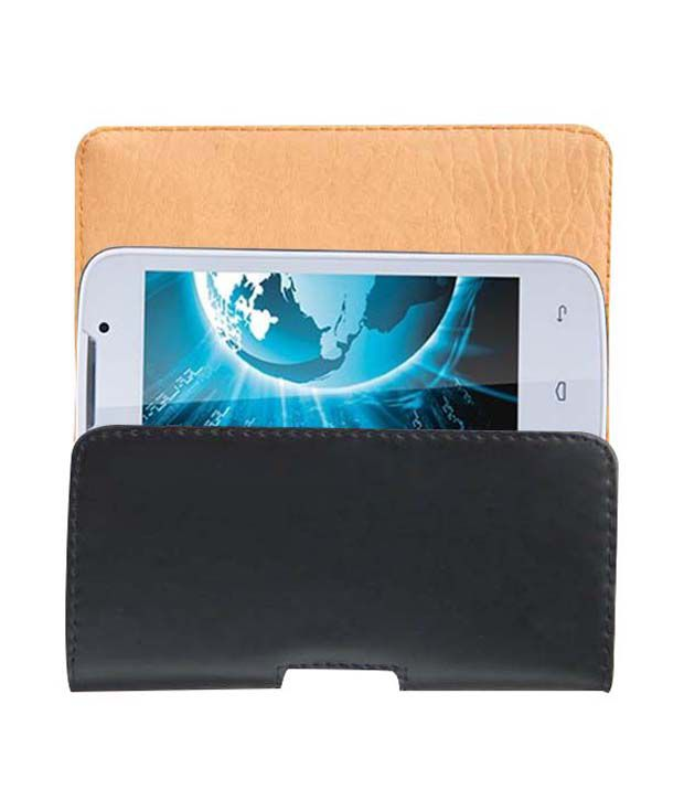 Acm Belt Case For Lava Iris 3G 402+ Mobile Leather Carry Pouch Premium Cover Clip available at SnapDeal for Rs.389