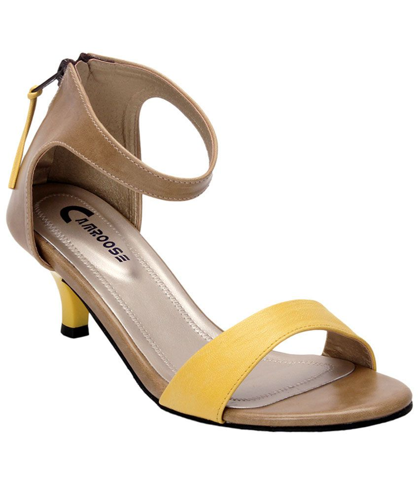 Camroose Yellow Kitten Sandals
