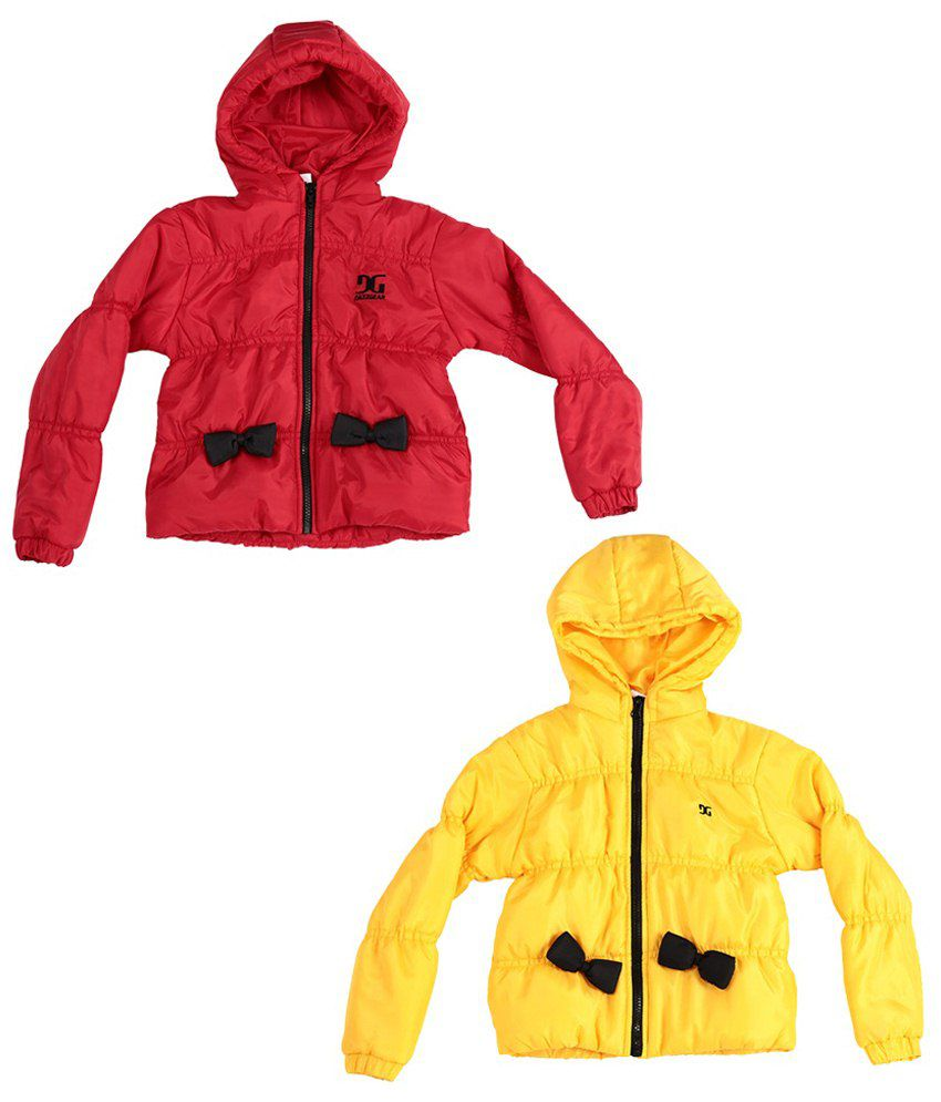 Dazzgear Snug Red Hooded Jacket For Kids
