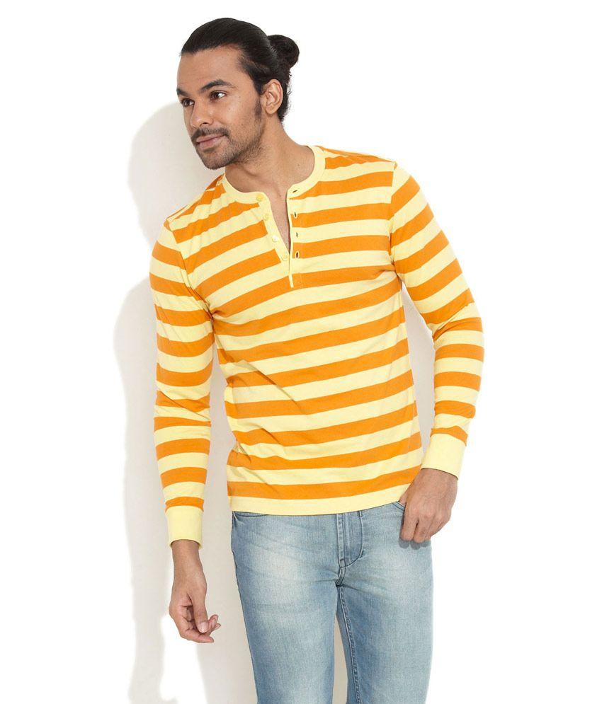 Freecultr Orange Organic Henley Shirt