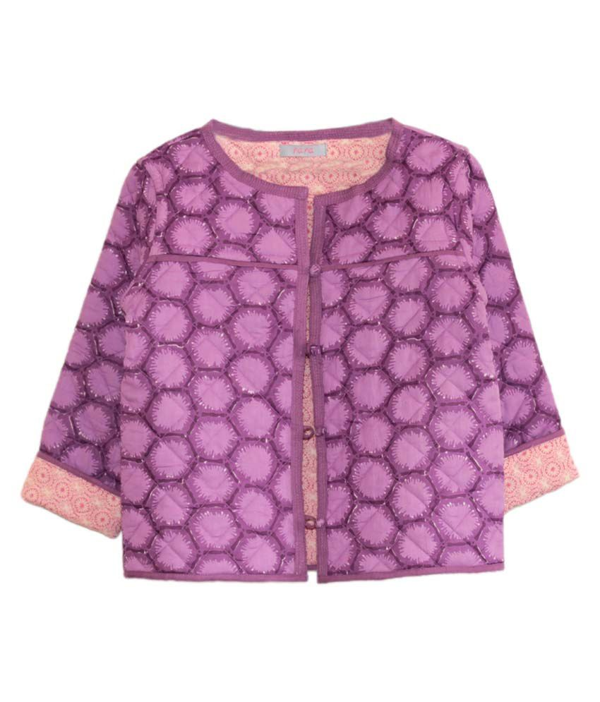 My Little Lambs Multi-color Quilted Jacket