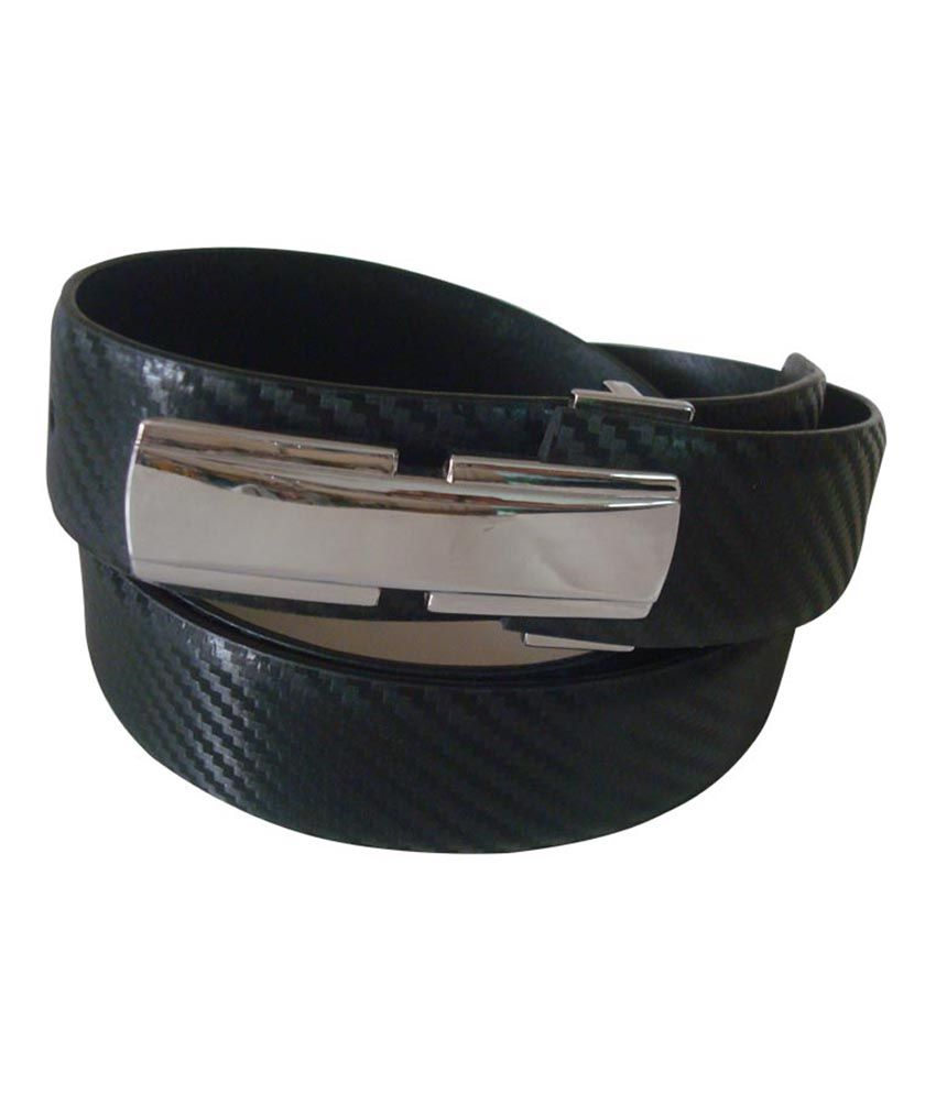 Rigado Exclusive Range Slim Buckle Genuine Leather Belt - Black