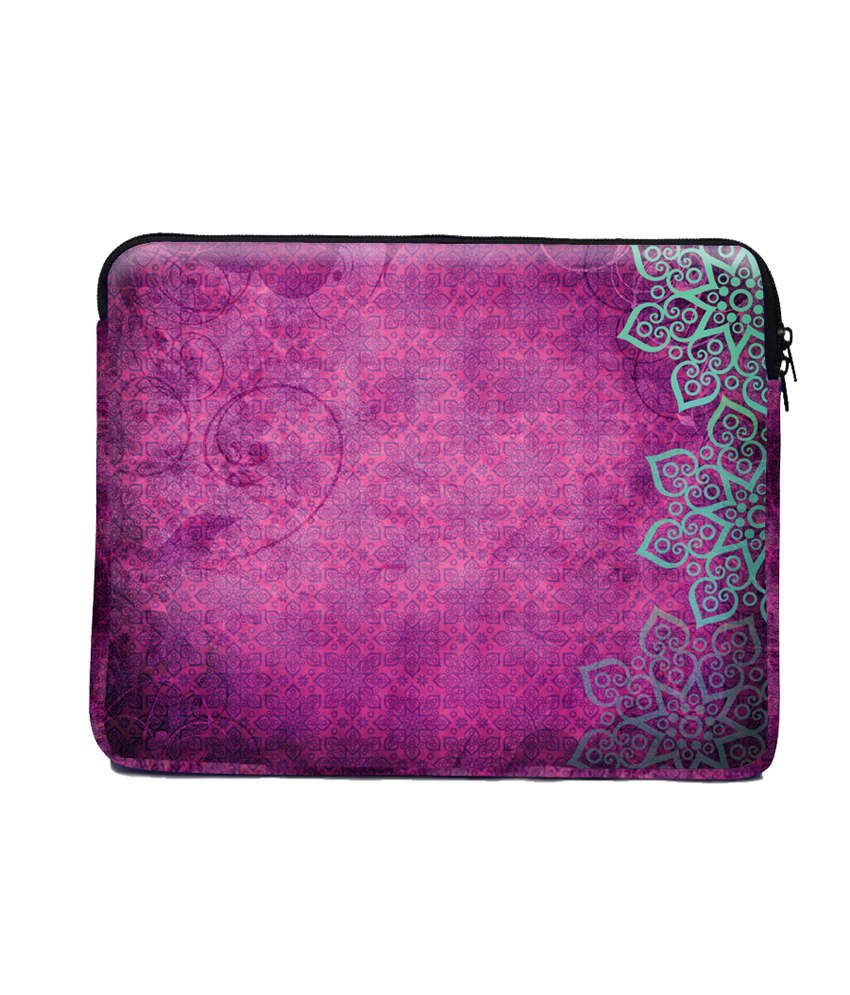 The Ringmaster Pink Abstract Pink Neoprene Laptop Sleeve
