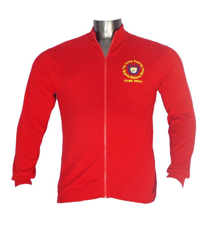 Xmex Red Cotton Full Sleeves T-shirt