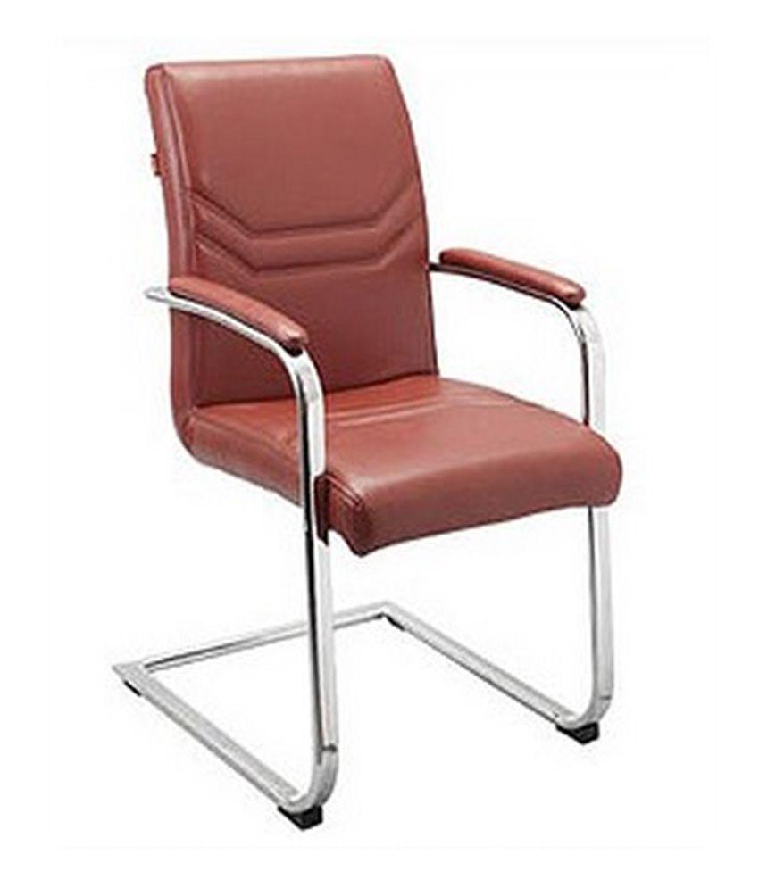 Aks Furniture Brown Stainlesssteel Visitors Chair Buy Aks Furniture Brown S