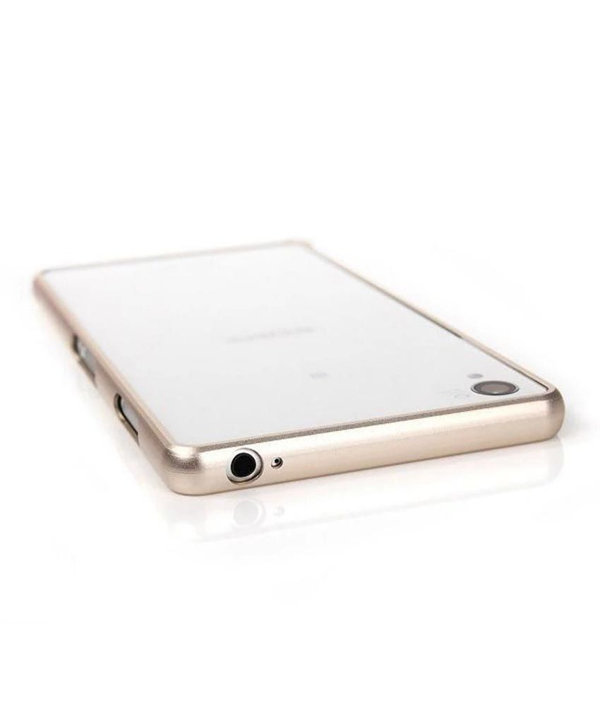 huge selection of 7581c 639ca Egotude Aluminium Metal Bumper Frame Cover Case Backless For Sony Xperia  Z3- Champagne Gold