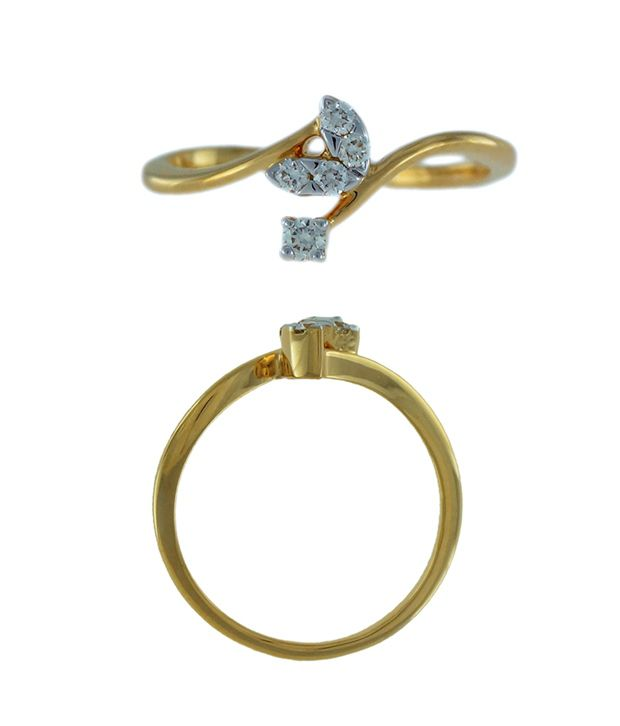 Delicate Diamond With Marquise 18K Gold Ring