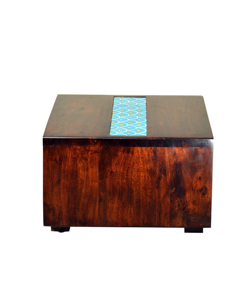 HomeTown Indigo Solidwood Side Table